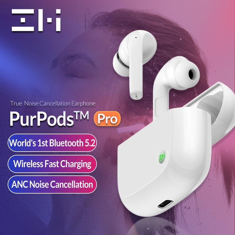 Xiaomi ZMI PurPods Pro Earphone Bluetooth 5.2 ANC 3Mic Anti Noise - GeekTomy